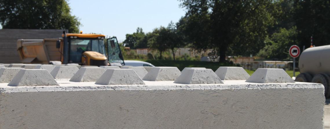 Fabrication de béton-blocs